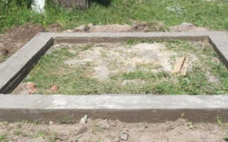 Как самостоятельно залить фундамент под баню?