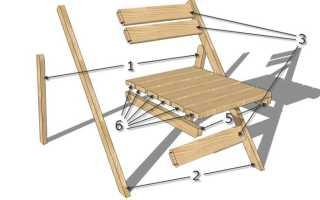 Как сделать стульчик раскладной своими руками?