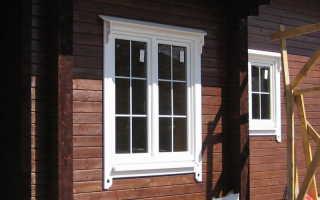 Виды обналички окон в деревянном доме