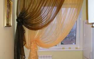 Несколько способов как красиво сделать шторы